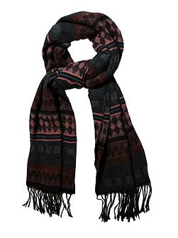 Geo Print Winter Scarf