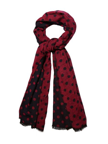 Yumi Polka Dot Print Winter Scarf