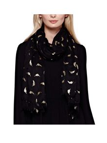 Yumi Gold Feather Scarf