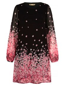 Yumi Cherry Blossom Print Tunic Dress