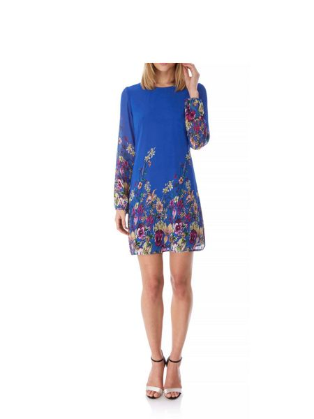 Yumi Wild Floral Print Tunic Dress