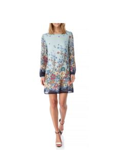 Yumi Japanese Floral Print Tunic Dress