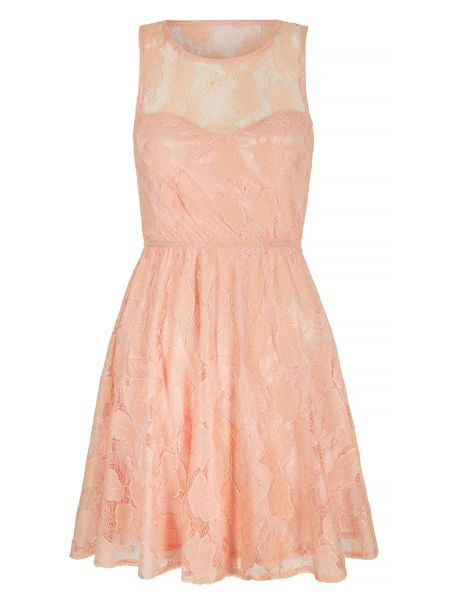 Mela London Lace Sweetheart Skater Dress