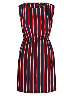 Stripe Print Shift Dress