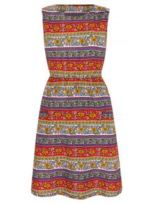 Mela Loves London Aztec Stripe Print Dress