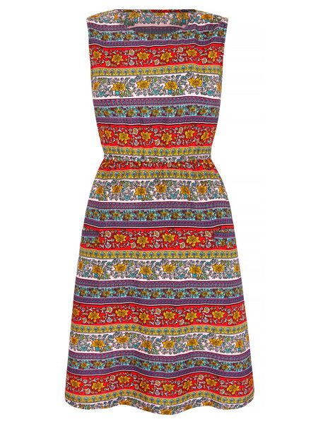 Mela London Aztec Stripe Print Dress