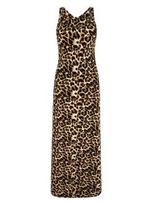 Mela London Leopard Print Maxi Dress