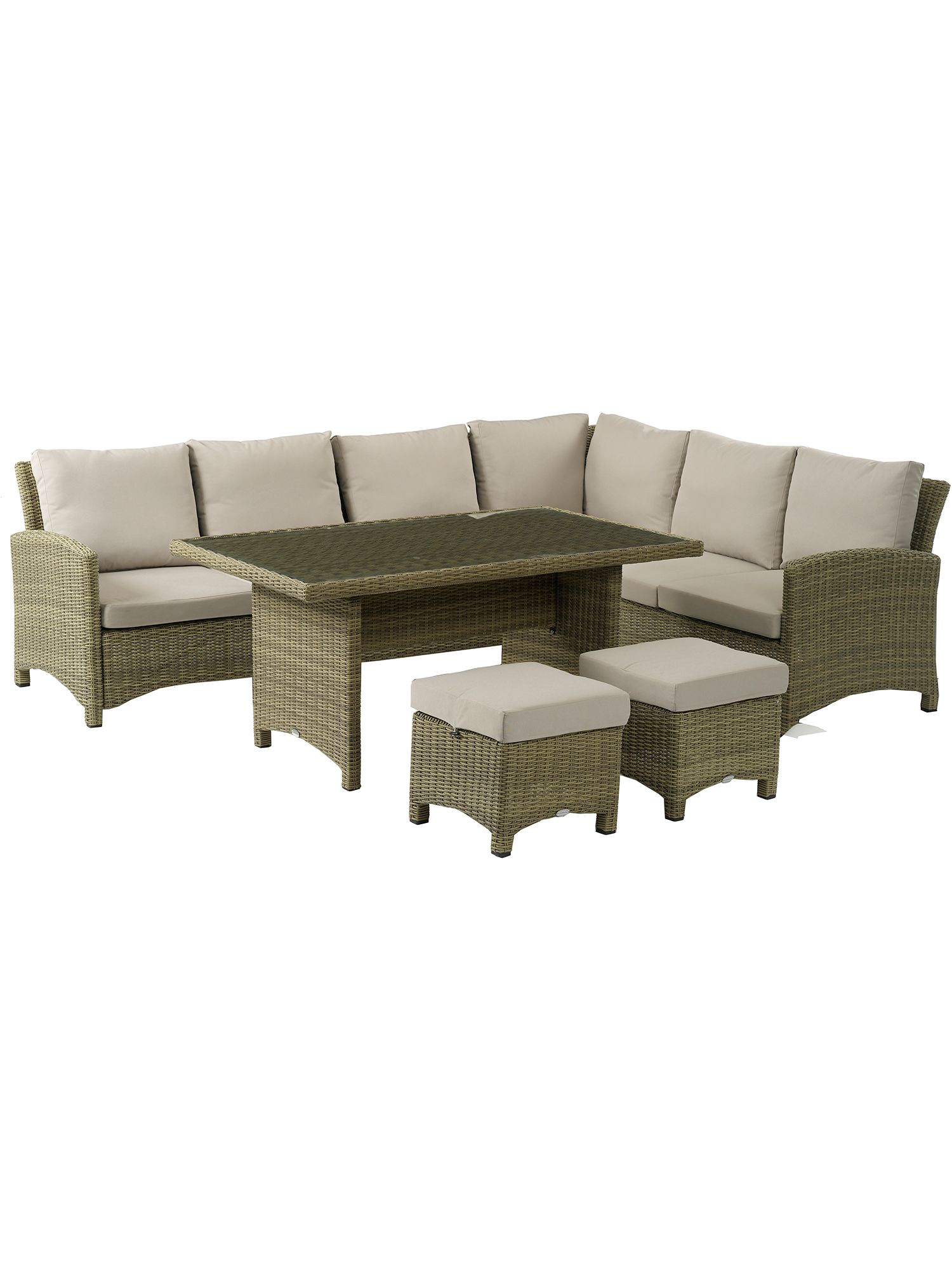 Image of Bramblecrest Cotswold modular sofa with dining table & stools