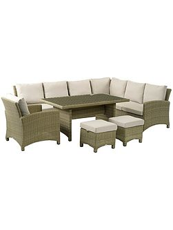Cotswold modular sofa with casual dining table, 2