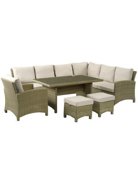 Bramblecrest Cotswold modular sofa with casual dining table, 2