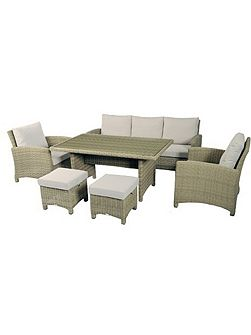 Cotswold casual dining set with sofa, 2 chairs
