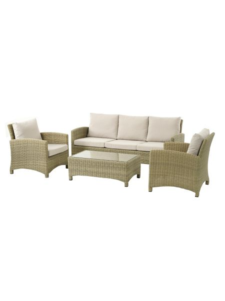 Bramblecrest Cotswold sofa with 2 chairs & coffee table