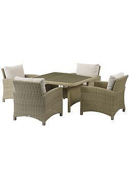Cotswold square casual dining set