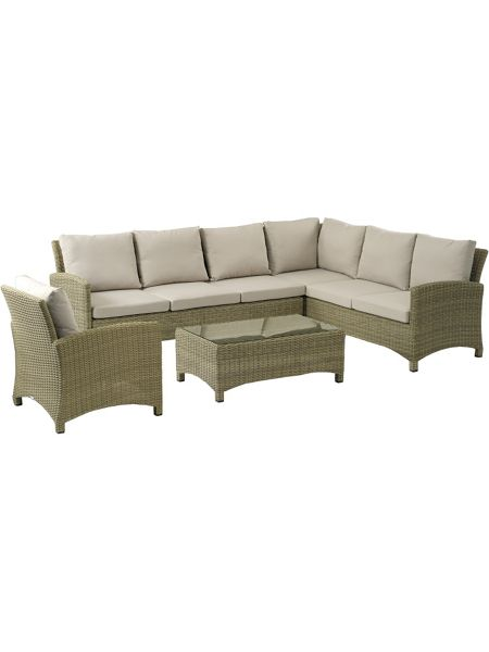 Bramblecrest Cotswold modular sofa set with coffee table & cha