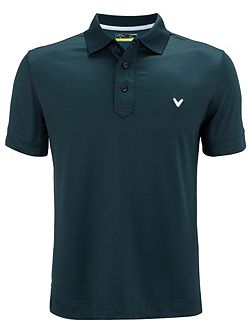 Stretch solid polo shirt