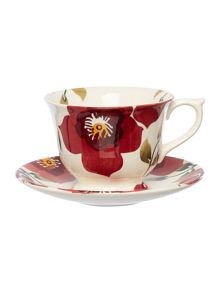 Emma Bridgewater Christmas Rose Large tea cup & Saucer Boxed