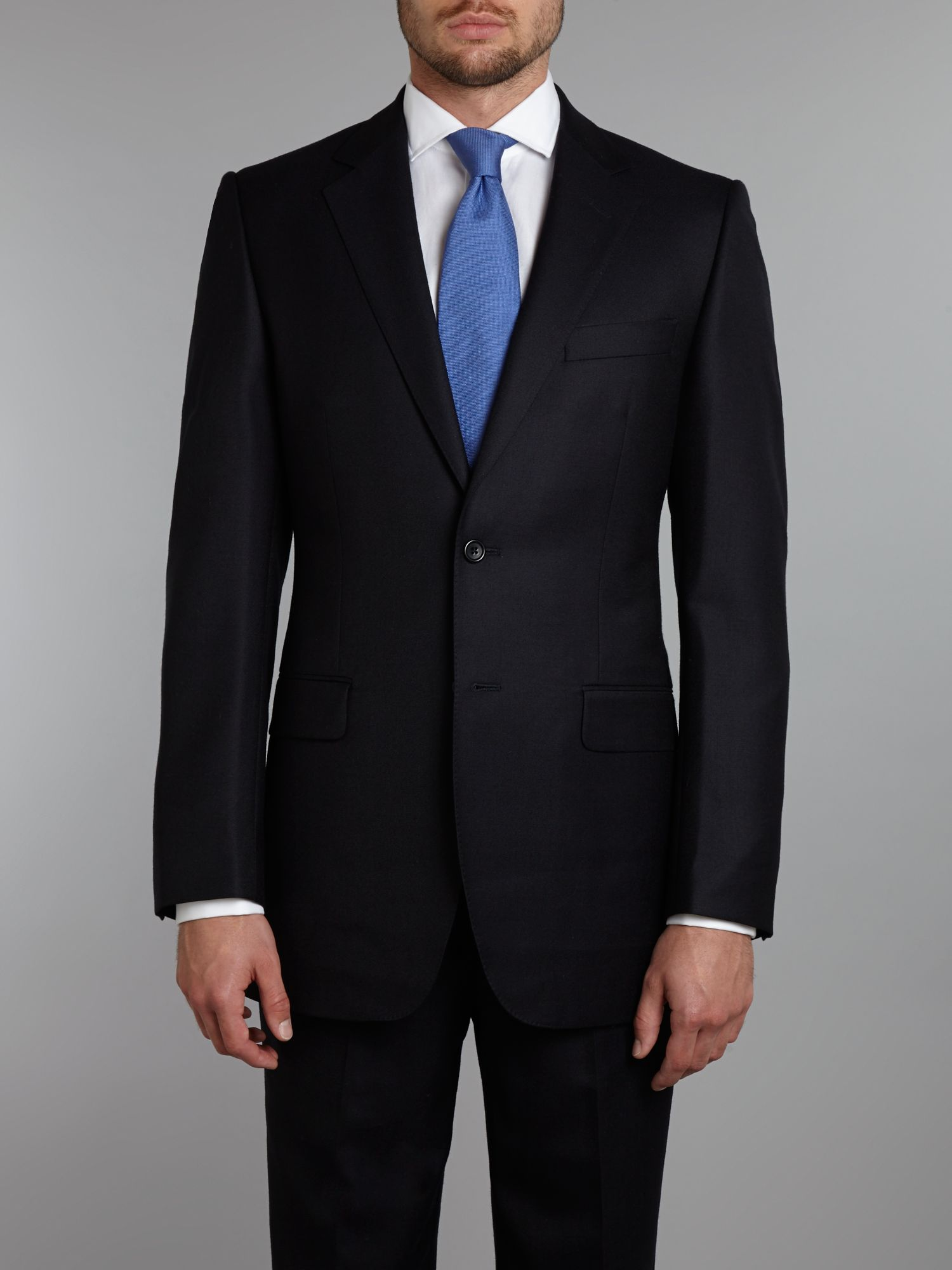 Buckingham plainweave blazer
