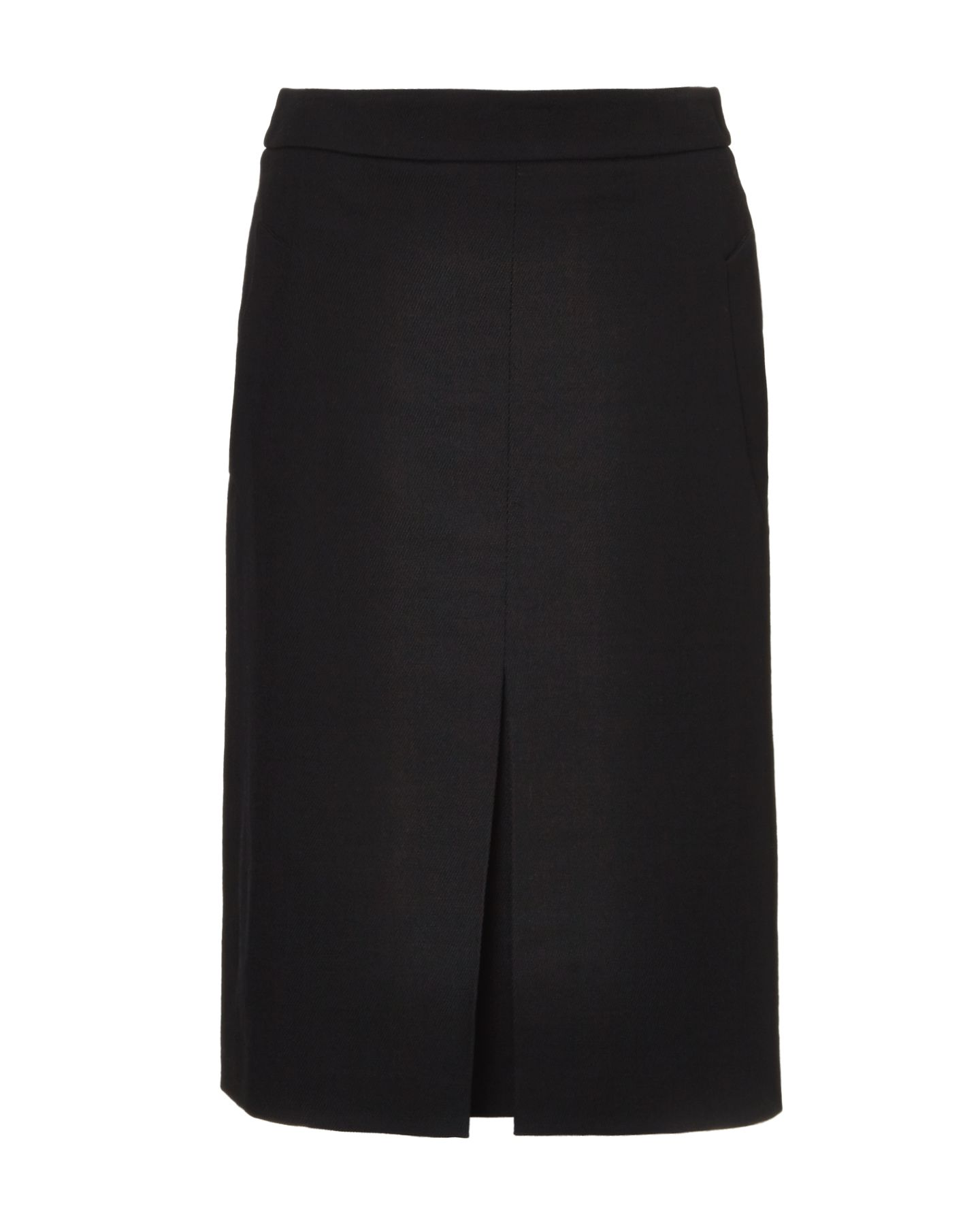 Pleat front skirt