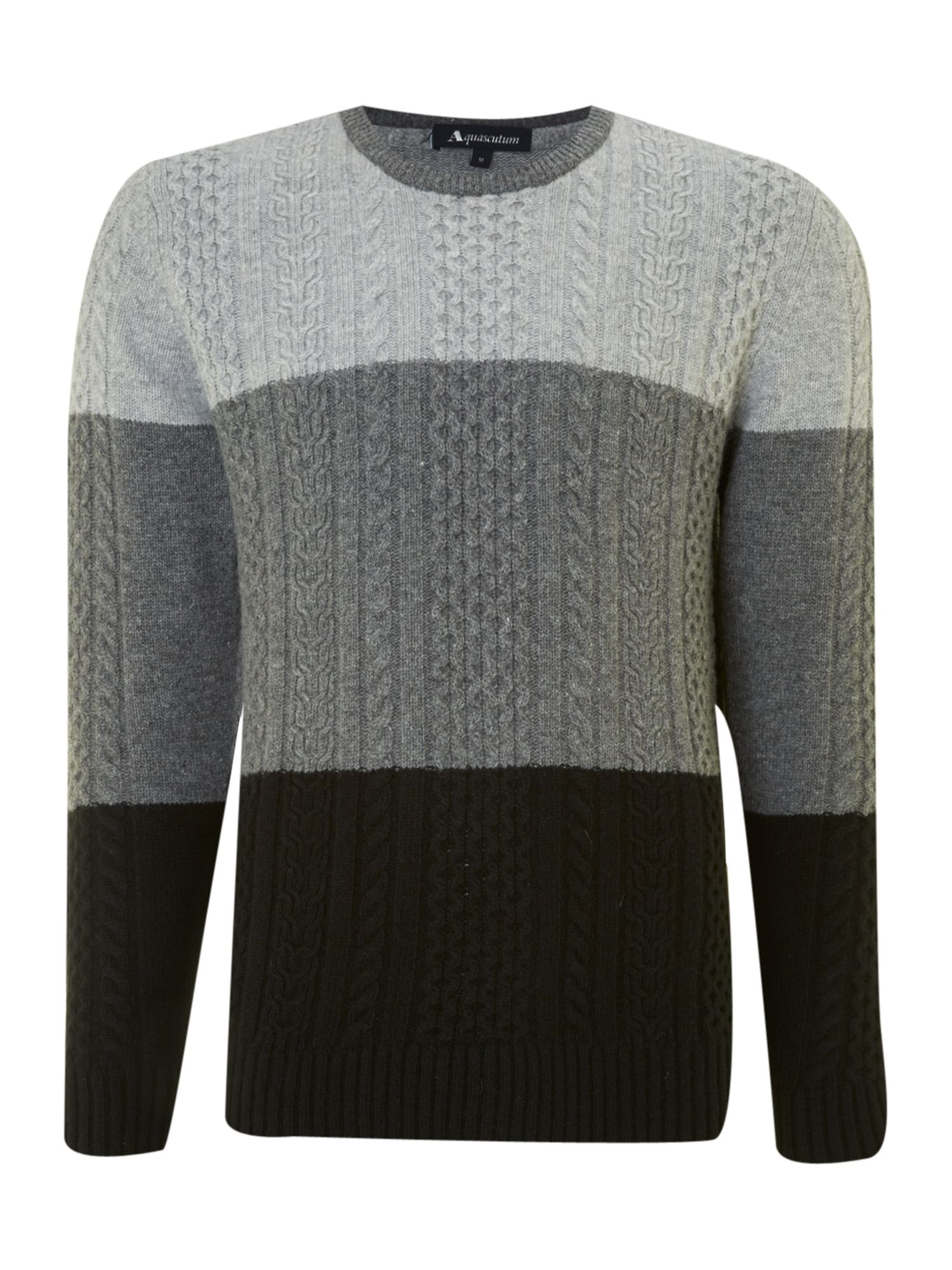 Colour block heavy knit
