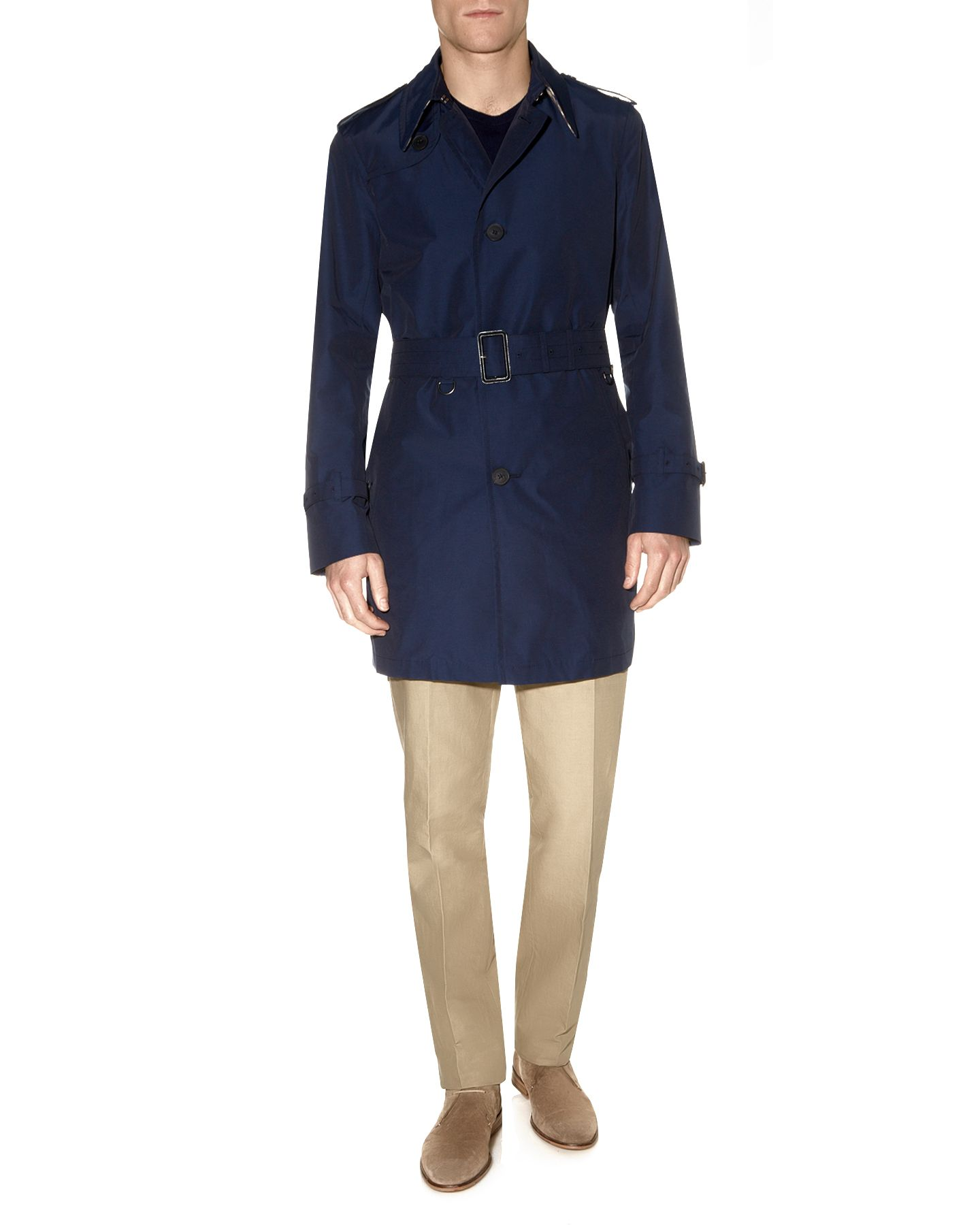 Pattison single breasted trench coat