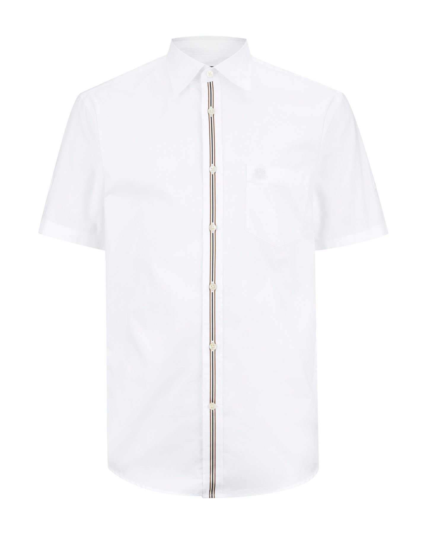 Club check short sleeved tape trim shirt