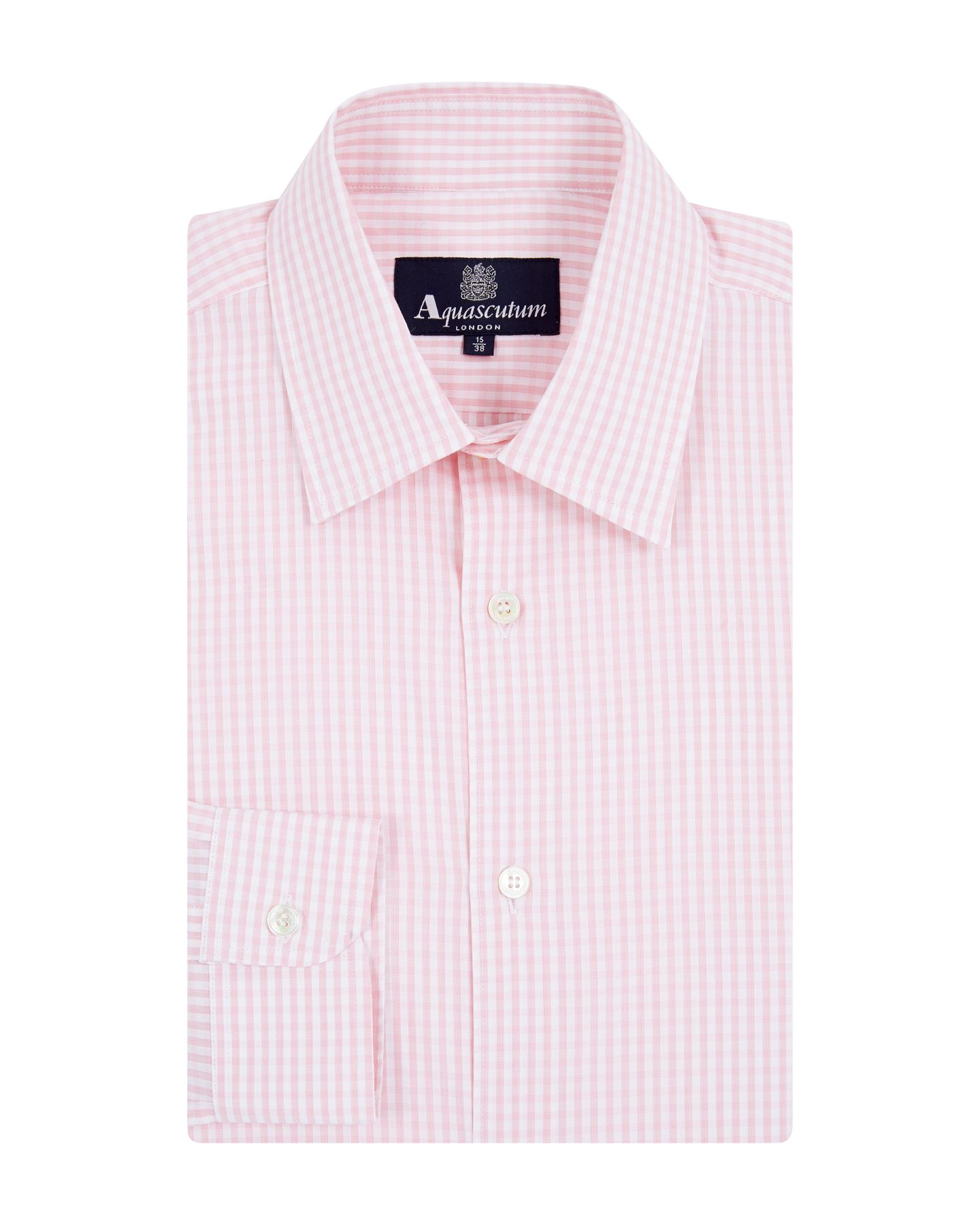 Textured gingham long sleeve shirt