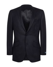 Aquascutum Herringbone twill single breasted jacket