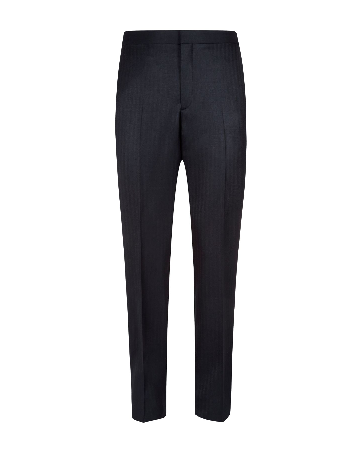 Herringbone twill formal suit trouser