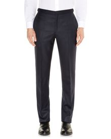 Aquascutum Herringbone twill formal suit trousers