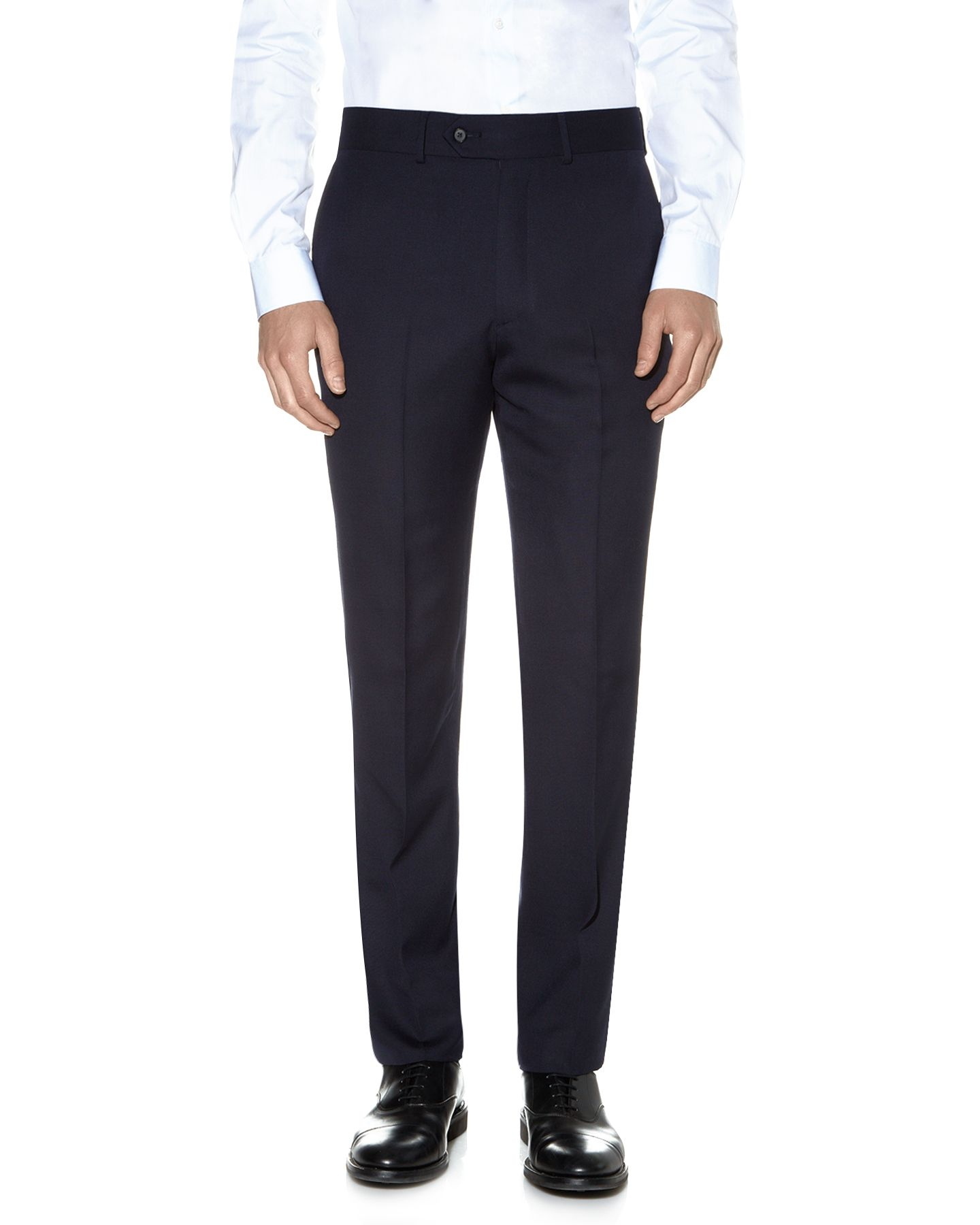 Hopsack clothier finish trouser