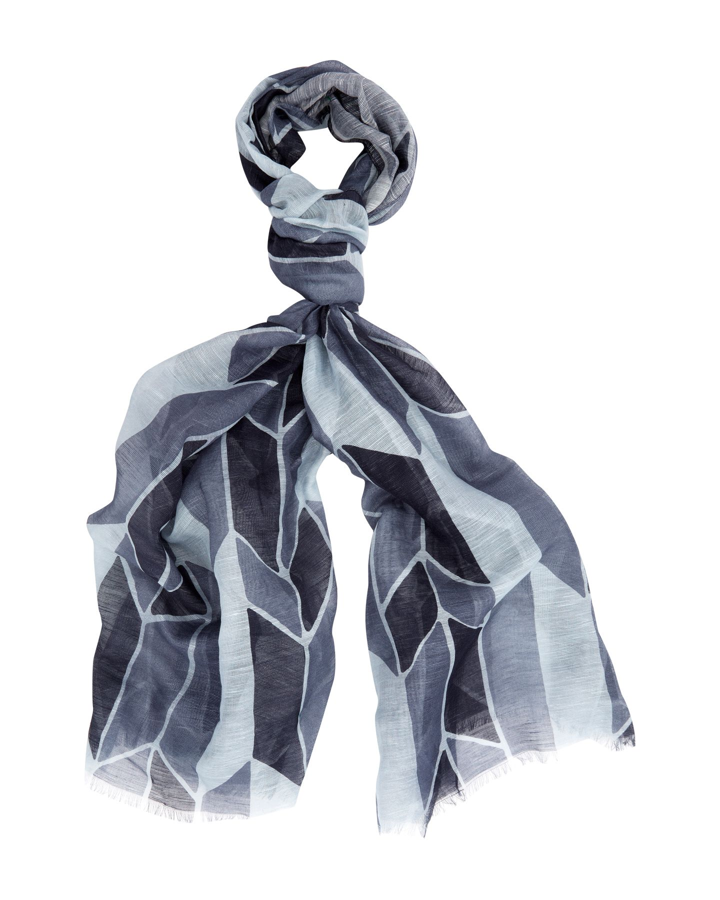 Abstract zigzag scarf