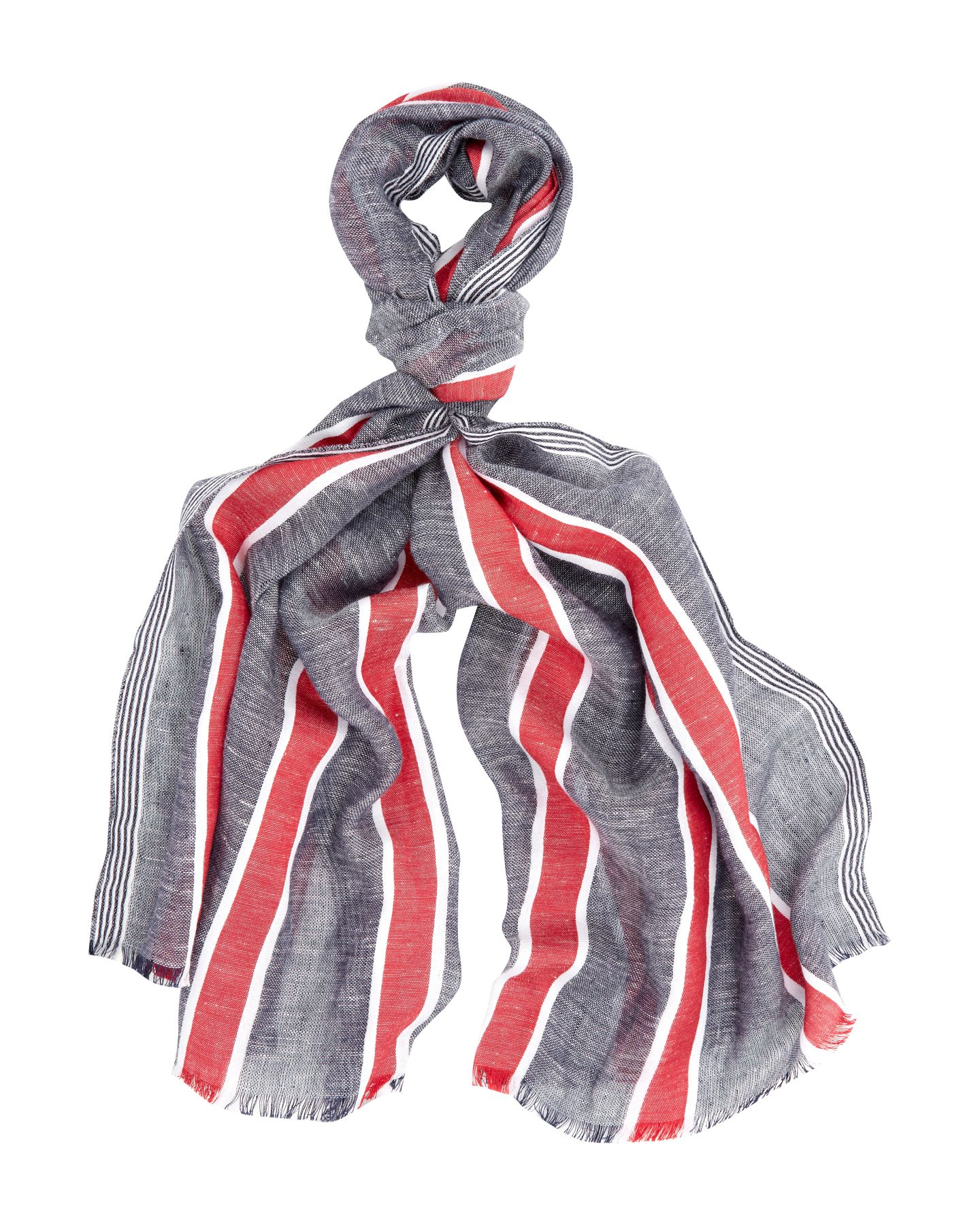 Nautical striped scarf