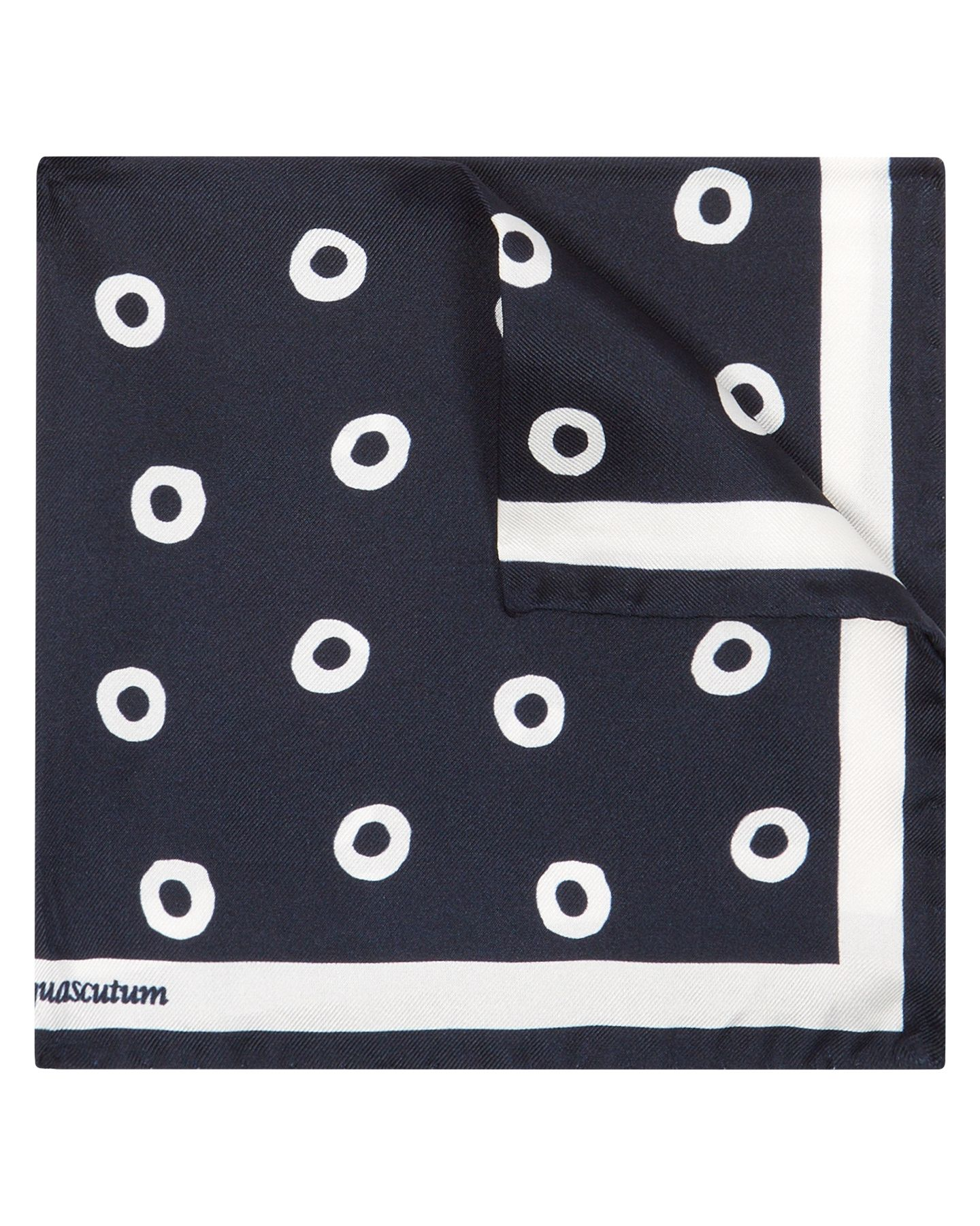 Circle spot handkerchief