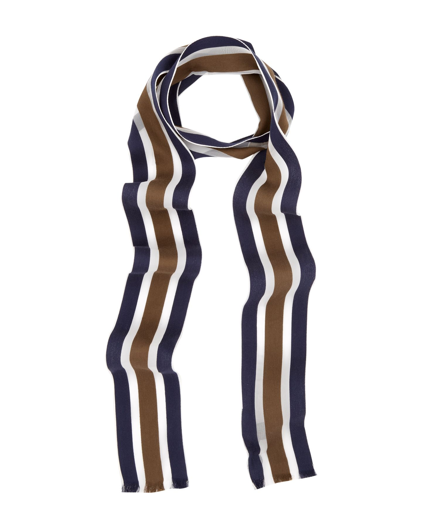 Thin College Stripe Scarf