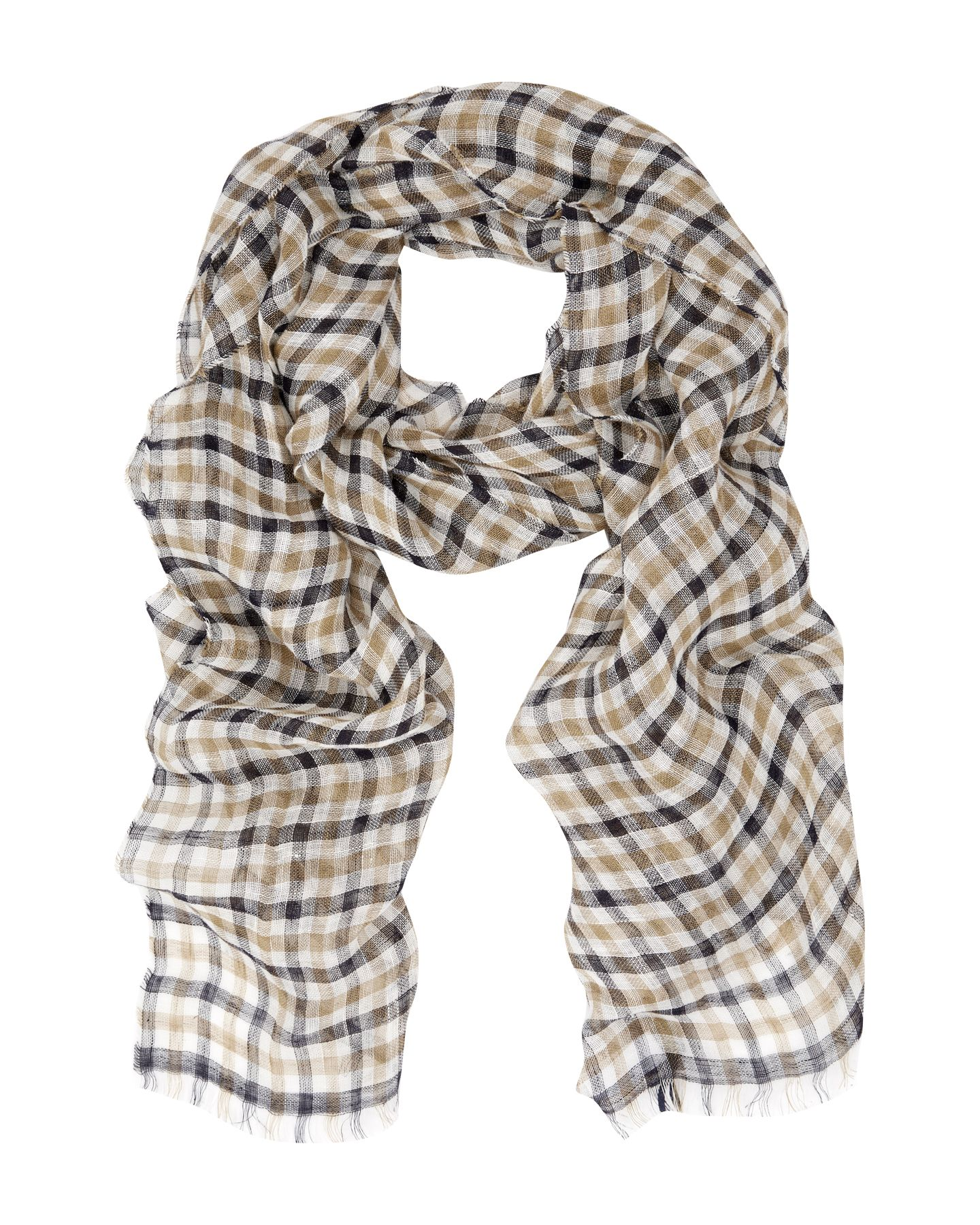 Club Check Linen Scarf