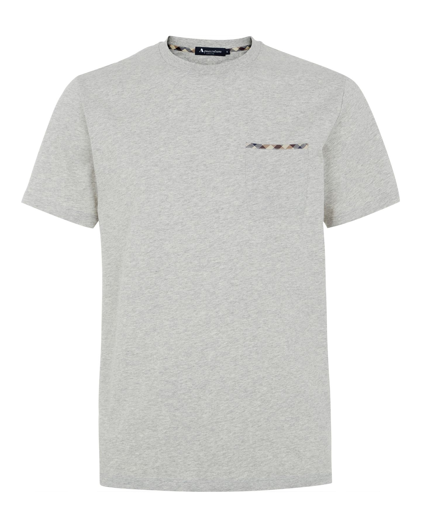 Club check trim t-shirt