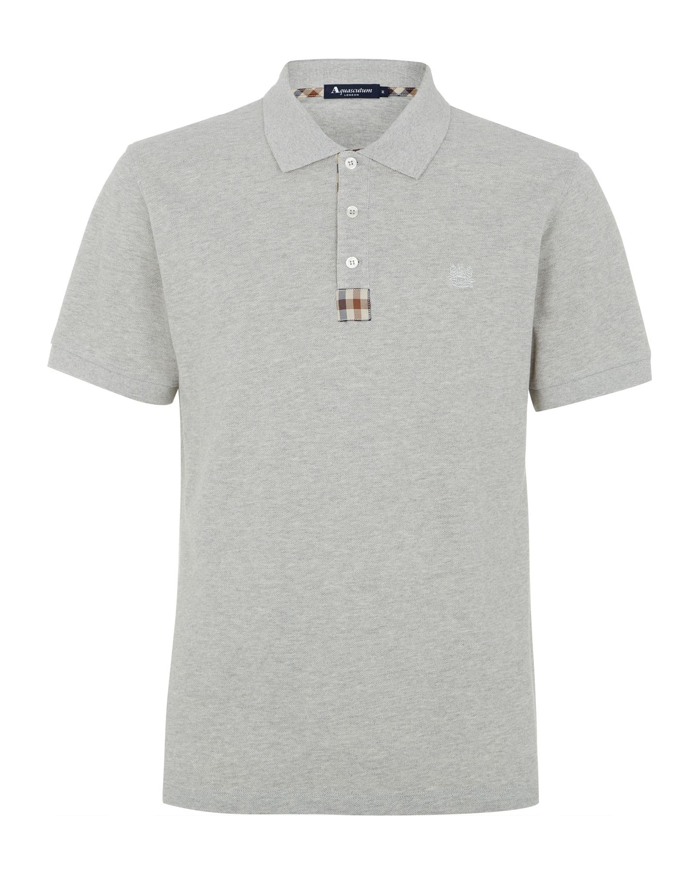 Club check placket polo shirt