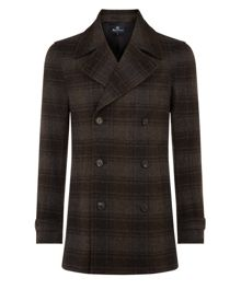 Raleigh checked pea coat