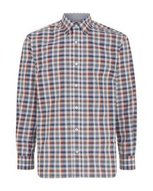 Mélange Check Classic Fit Long Sleeve Shirt