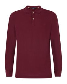 Long Sleeved Piquet Polo Shirt