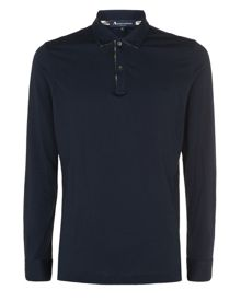 Long Sleeved Jersey Polo Shirt