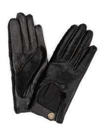 Leather and Pony Hair Bronte Driving Gloves