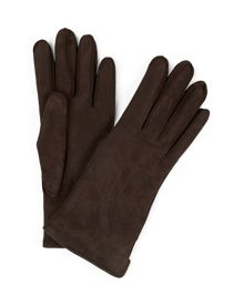 Suede Austin Gloves with Exposed Stitching