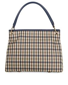 Charlotte Club Check Small Leather Shopper Bag