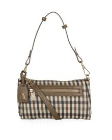 Susie Club Check Leather Shoulder Bag