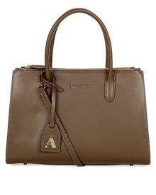Quentin Small Structured Leather Grab Bag