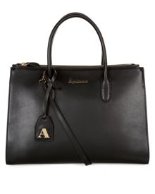 Aquascutum Quentin Large Structured Leather Grab Bag
