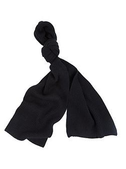 Fenchurch ribbed cashmere scarf