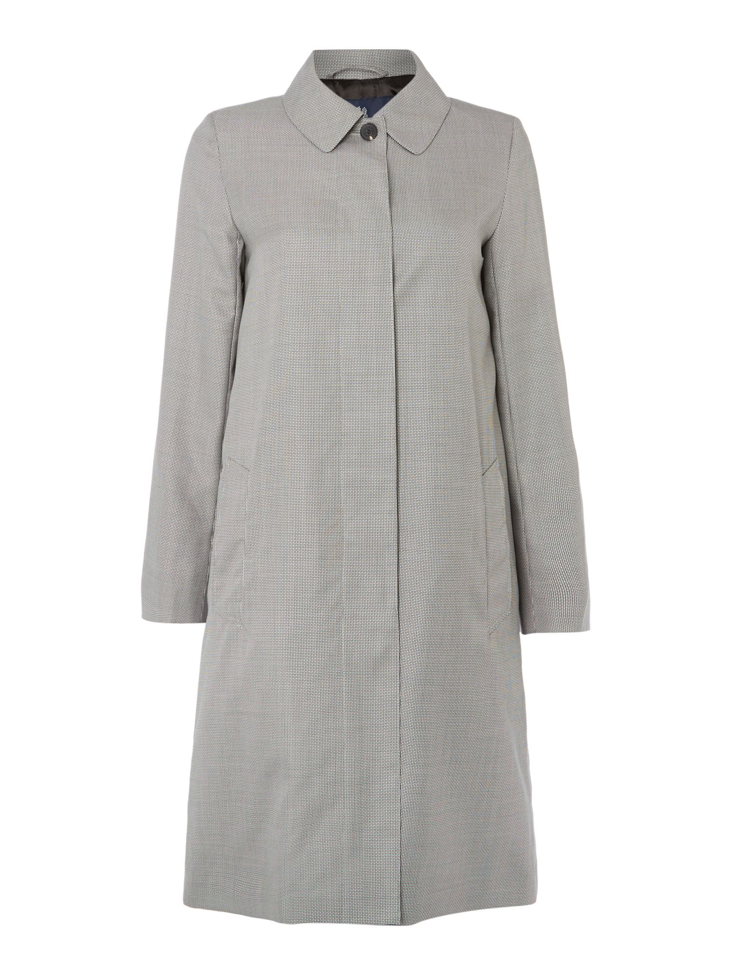 Aquascutum Dulwich Puppy Tooth Trench, Black