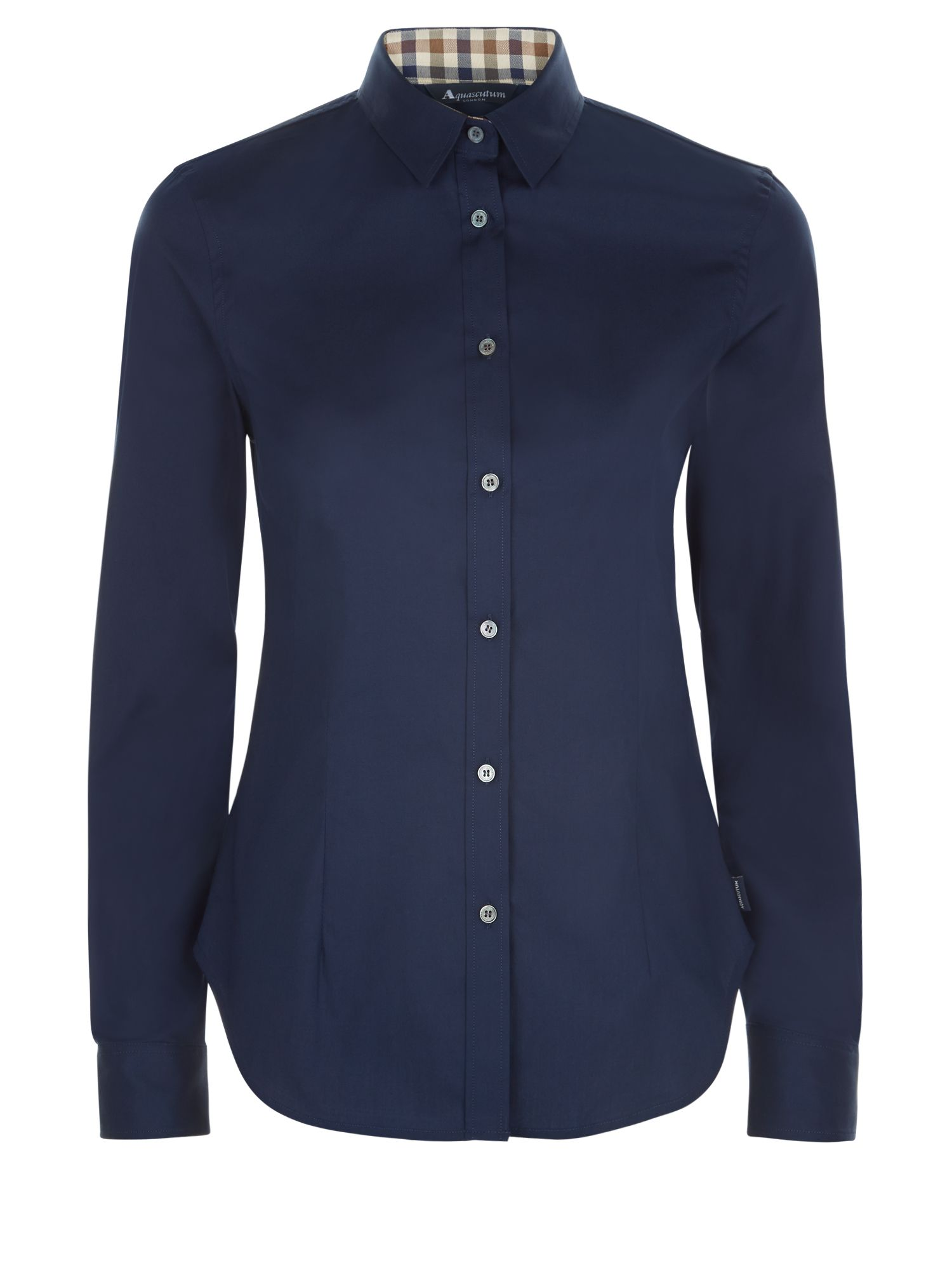 Aquascutum Bowten Club Check Shirt, Blue